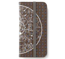 Ten Tie Gallicush - Brown (Circular) iPhone Wallet/Case/Skin