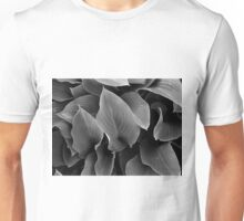 Green Leaves in Black and White Unisex T-Shirt