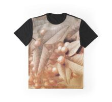 Berry and Leaf Brocade Graphic T-Shirt