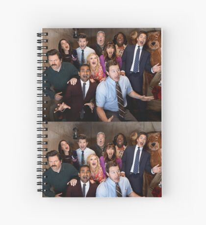Parks and Rec Cast Spiral Notebook
