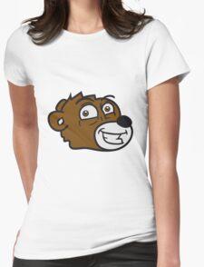 grin smile comic cartoon head face sweet little cute polar teddy bear funny Womens Fitted T-Shirt