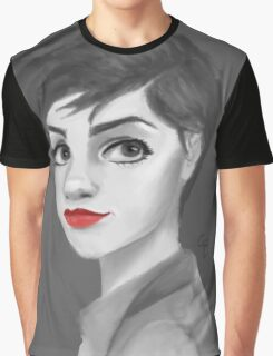 Red lips grey  Graphic T-Shirt