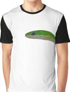 Rough Green Snake - No Background Graphic T-Shirt