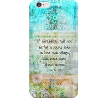 Witty Jane Austen travel quote iPhone Case/Skin