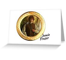 Jamie Fraser/Gold frame Greeting Card