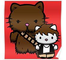 Hello Kitty Fuzzball Poster