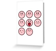 Kirby Faces Greeting Card
