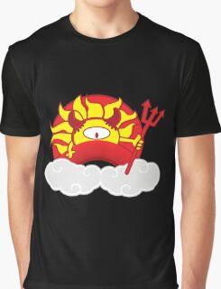 Devils Sun Darkness in Red Rainbow Graphic T-Shirt