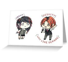 Ebony and Gerard Greeting Card