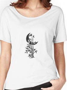 Bamboo and moon Women's Relaxed Fit T-Shirt