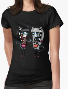 Monster High Chibi Purrsephone & Meowlody Womens Fitted T-Shirt