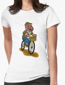 PUN INTENDED - HIPSTERPOTAMUS - HIPSTERS PARODY - FUNNY DESIGN Womens Fitted T-Shirt