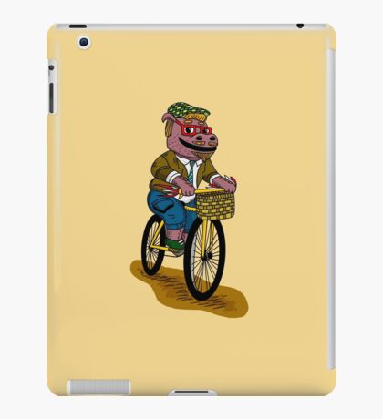 PUN INTENDED - HIPSTERPOTAMUS - HIPSTERS PARODY - FUNNY DESIGN iPad Case/Skin
