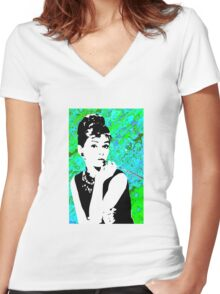 Aubrey Women's Fitted V-Neck T-Shirt