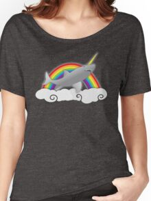 sharkicorn (SHARK AND UNICORN) Women's Relaxed Fit T-Shirt