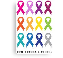 Cancer Ribbons Canvas Print