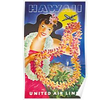 Hawaii United Airlines Poster
