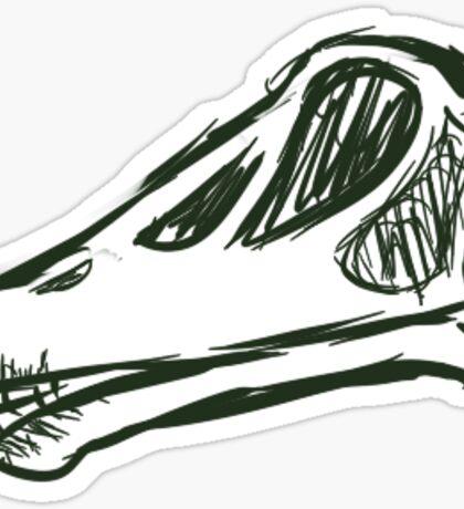 Dinosaurs: Diplodocus Skull Sticker