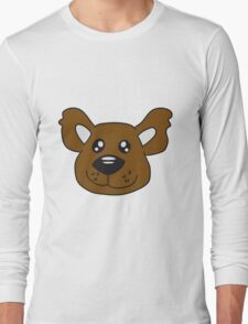 Face Teddy head comic cartoon sweet cute Long Sleeve T-Shirt