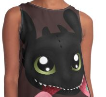How To Train Your Dragon Toothless Eating Salmon Contrast Tank