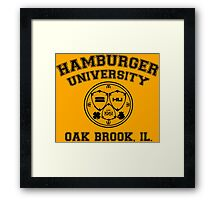 Hamburger University in Black Framed Print