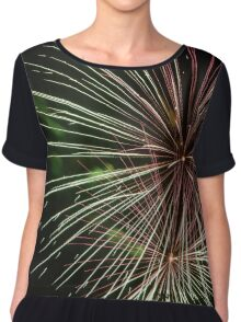 Fireworks Green Chiffon Top