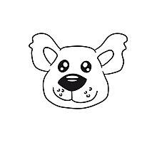 Face Teddy head comic cartoon sweet cute Photographic Print