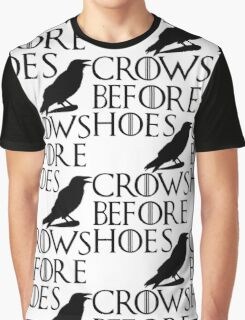 Crows Before Hoes - Black Graphic T-Shirt