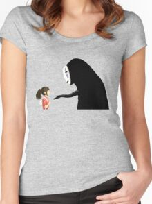 Spirited Away Pixel  Women's Fitted Scoop T-Shirt