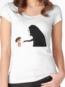 Spirited Away Pixel  Women's Fitted Scoop T-Shirt