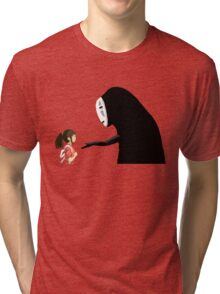 Spirited Away Pixel  Tri-blend T-Shirt