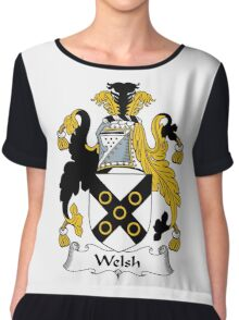 Welsh Coat of Arms / Welsh Family Crest Chiffon Top
