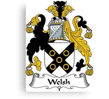 Welsh Coat of Arms / Welsh Family Crest Canvas Print
