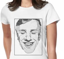 DESCRIPTIVE TEXT PORTRAIT: CHRISTOPH WALTZ Womens Fitted T-Shirt