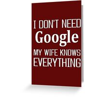 wife, Google, Internet, Smart Greeting Card