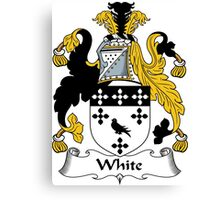 White Coat of Arms / White Family Crest Canvas Print