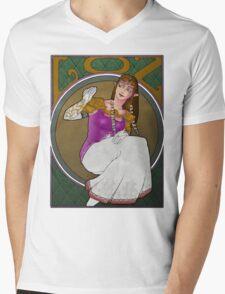 Zelda in Mucha Mens V-Neck T-Shirt