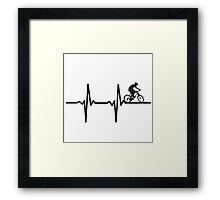 Bicycle Hearth Beat Framed Print