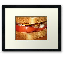 Toasted Bacon, Tomato & Cheese Mmmmmmmmmmmmmmmmmmmmmmmmmmmmmm.....Yum! Framed Print