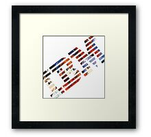 Vaporwave IBM/Neon Genesis Evangelion Mashup Framed Print