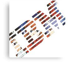 Vaporwave IBM/Neon Genesis Evangelion Mashup Canvas Print