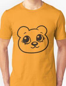 face head female woman girl sweet cute comic cartoon teddy bear Unisex T-Shirt