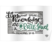 Proverbs 20:15 Poster