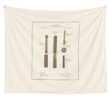 Pool Cue Patent - Colour Wall Tapestry