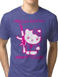 Hello Kitty Army Club Tri-blend T-Shirt