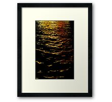 Colors on Water Framed Print