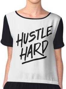 Hustle Hard - Black Chiffon Top