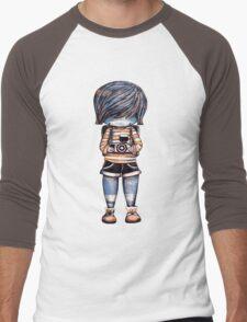 Smile Baby Photographer Men's Baseball ¾ T-Shirt