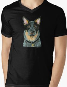 Australian Cattle dog - Blue Mens V-Neck T-Shirt