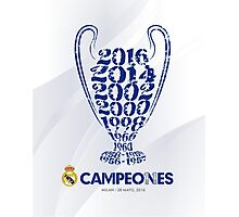 Real Madrid Campeon Champions League Photographic Print